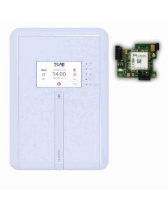 QUADRIO-KIT-B Centrale mista filo e radio con touchscreen in kit